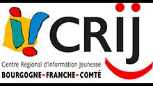 ici se trouve le logo du CRIJ le centre régional d'information jeunesse Bourgogne Franche Comté