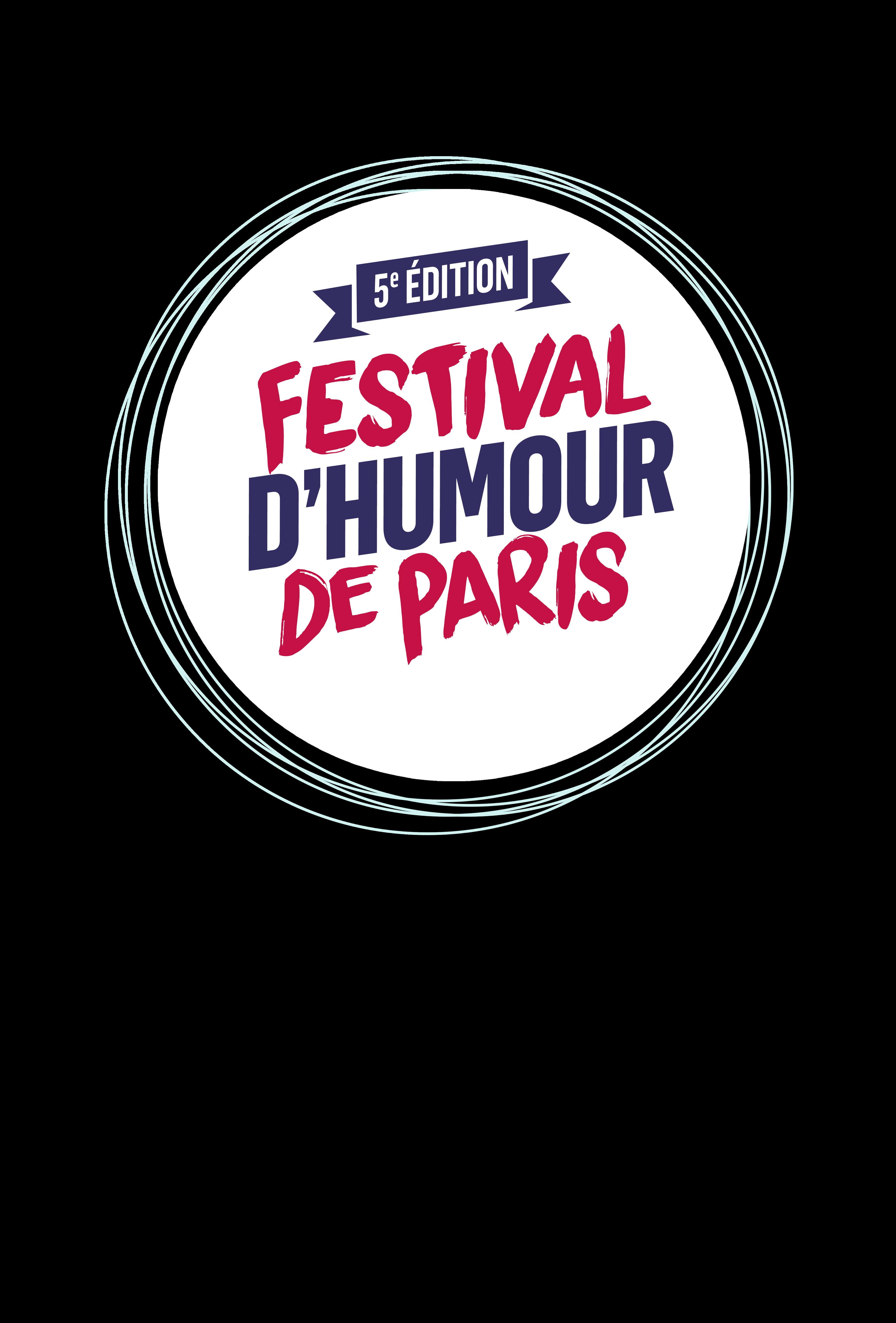 ici se trouve le logo du festival d'humour de paris