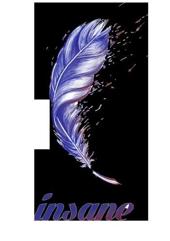 logo du festival Insane représentant une plume