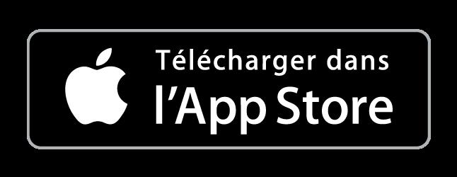 Logo noir pour le téléchargement de l'application sur l'App Store