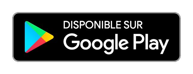 Logo noir pour le téléchargement de l'application sur Google Play